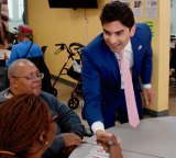 Patel makes the rounds, never missing a table or an outstretched hand.